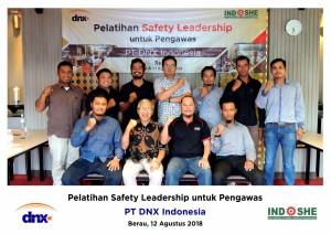 Foto Bersama PT DNX Safety Leadership untuk Pengawas 12 Agustus 2018