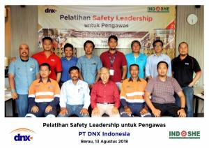 Foto Bersama PT DNX Safety Leadership untuk Pengawas 13 Agustus 2018