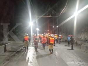 Terowongan pertambangan tembaga underground Freeport Indonesia di Grasberg Papua