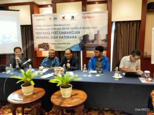 Para praktisi menyoroti RUU Minerba yang syarat kepentingan pengusaha tambang